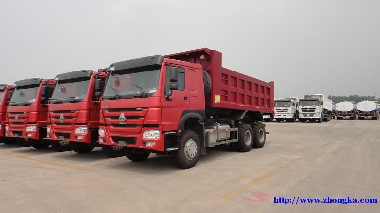 336马力重载豪沃5米8自卸车重汽厂家报价