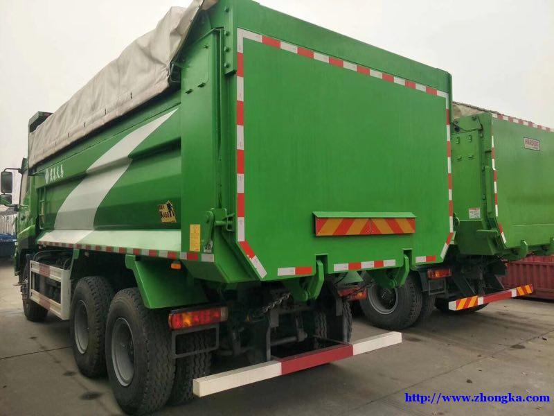 供应中国重汽380马力新款斯太尔后八轮渣土自卸车价格