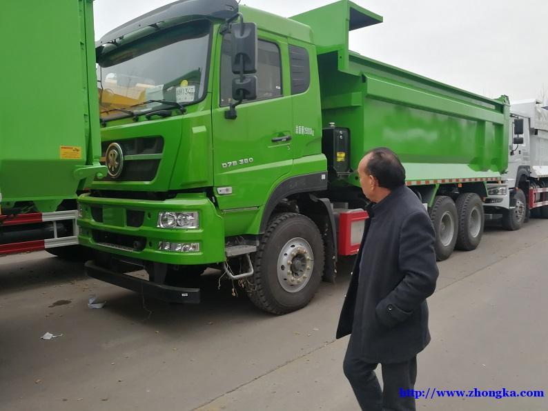 供应斯太尔380马力新款环保渣土自卸车报价