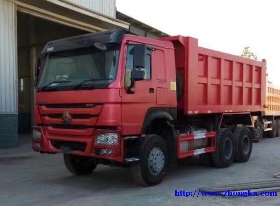供应出口非洲中非(豪沃5.8米后八轮翻斗自卸车)报价