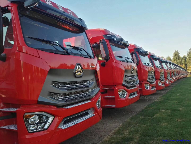 新款豪瀚N7G危险品后双驱牵引车440马力厂家促销报价