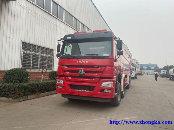 重汽豪沃国六全驱消防车底盘厂家销售服务热线