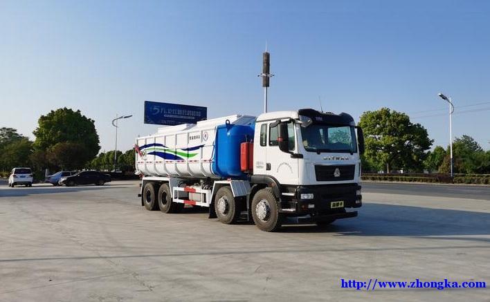 汕德卡国六30方罐式污泥砂浆运输自卸车价格