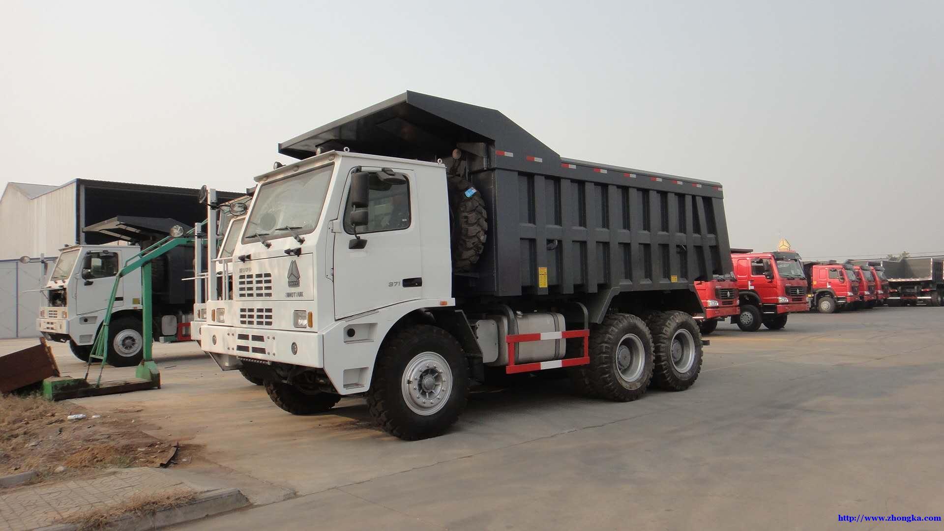 中国重汽矿山车【矿山霸王】省油重载版150吨